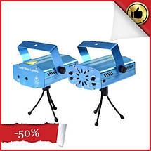 Мини лазерный проектор, внутренний проектор, новогодний лазер (Точки с линиями), фото 3