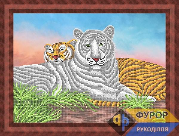 Схема для вишивки бісером картини Пара тигрів (ЖБч2-024)