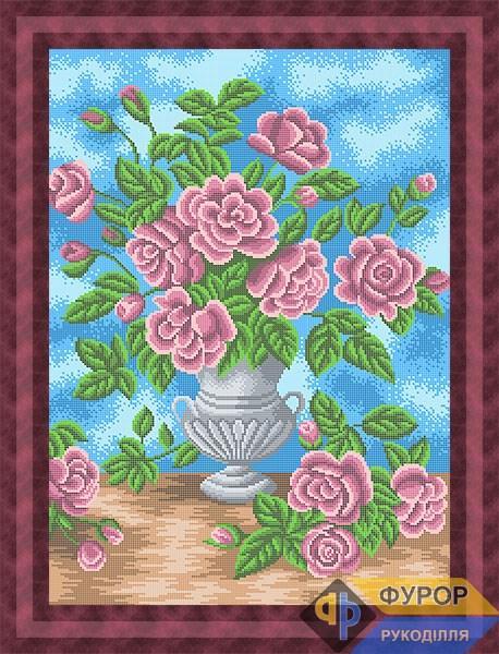 Схема для вышивки бисером картины Букет цветов (НБп2-027)