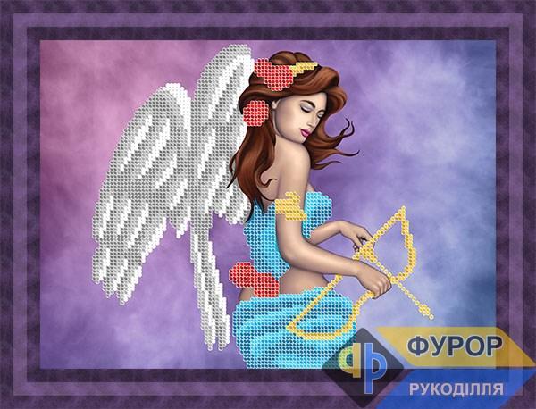 Схема для вышивки бисером картины Ангел с луком (ЛБч4-064)