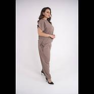 / Размер 54,56,58,60,62. / Женский летний штапельный костюм большого размера / Жасмин бежевый, фото 3