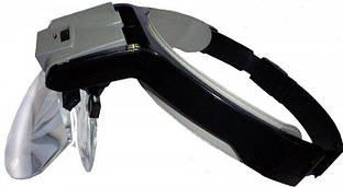 Бинокулярная лупа Magnifier 81001-B2 з LED