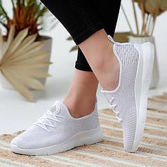 Кроссовки женские белые сетка