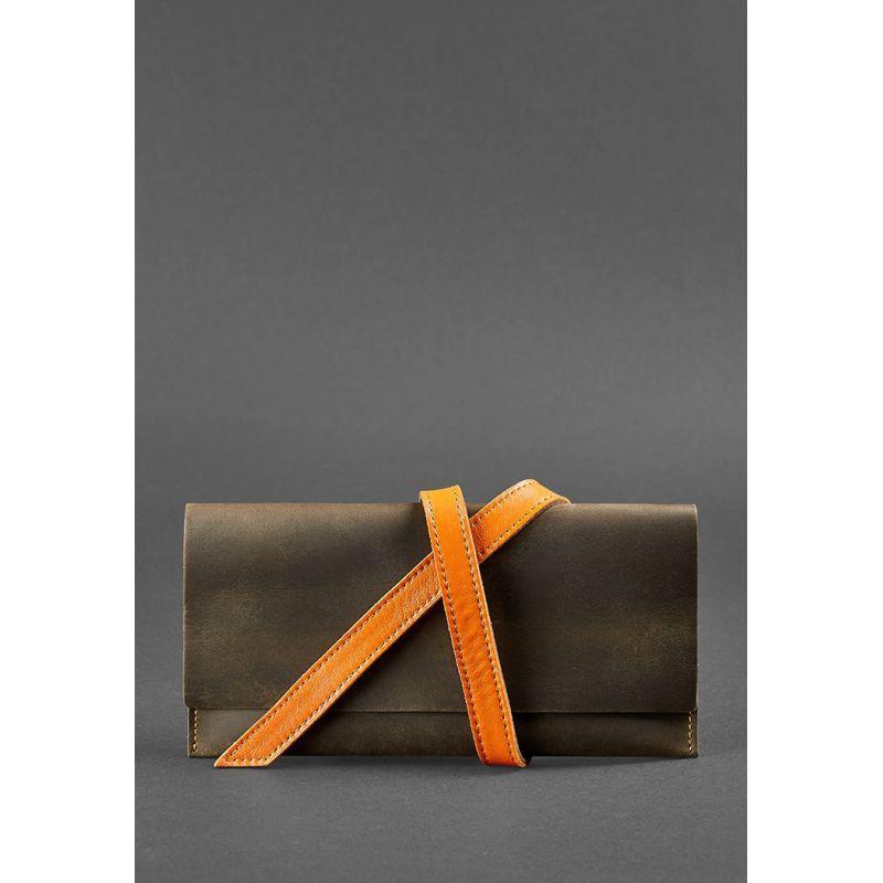 Кожаный тревел-кейс Voyager 1.0 темно-коричневый с оранжевым