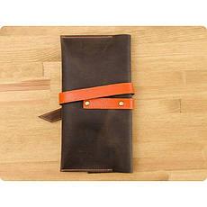 Кожаный тревел-кейс Voyager 1.0 темно-коричневый с оранжевым, фото 3