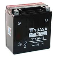 Мото аккумулятор YUASA YTX16-BS