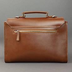 Жіноча шкіряна сумка Classic світло-коричнева, фото 2
