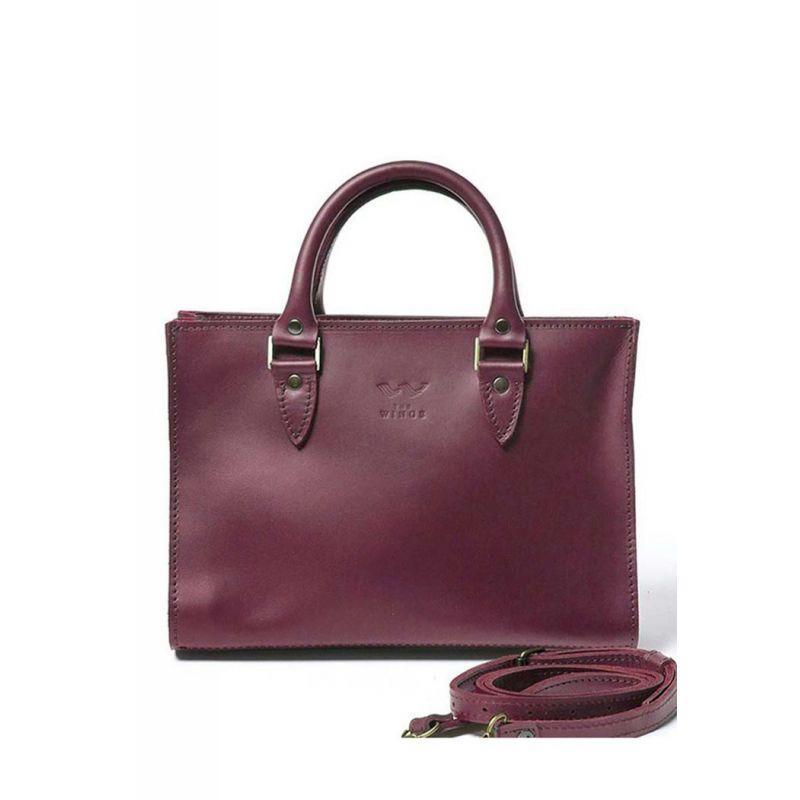 Жіноча шкіряна сумка Fancy бордова