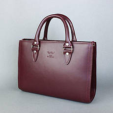 Жіноча шкіряна сумка Fancy бордова, фото 2