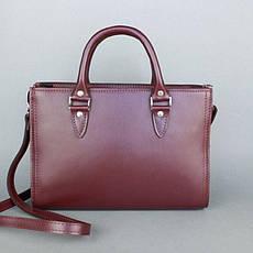Жіноча шкіряна сумка Fancy бордова, фото 3