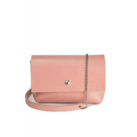 Кожаная мини-сумка Holiday розовая, фото 2