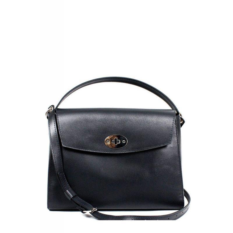 Женская кожаная сумка Iris черная