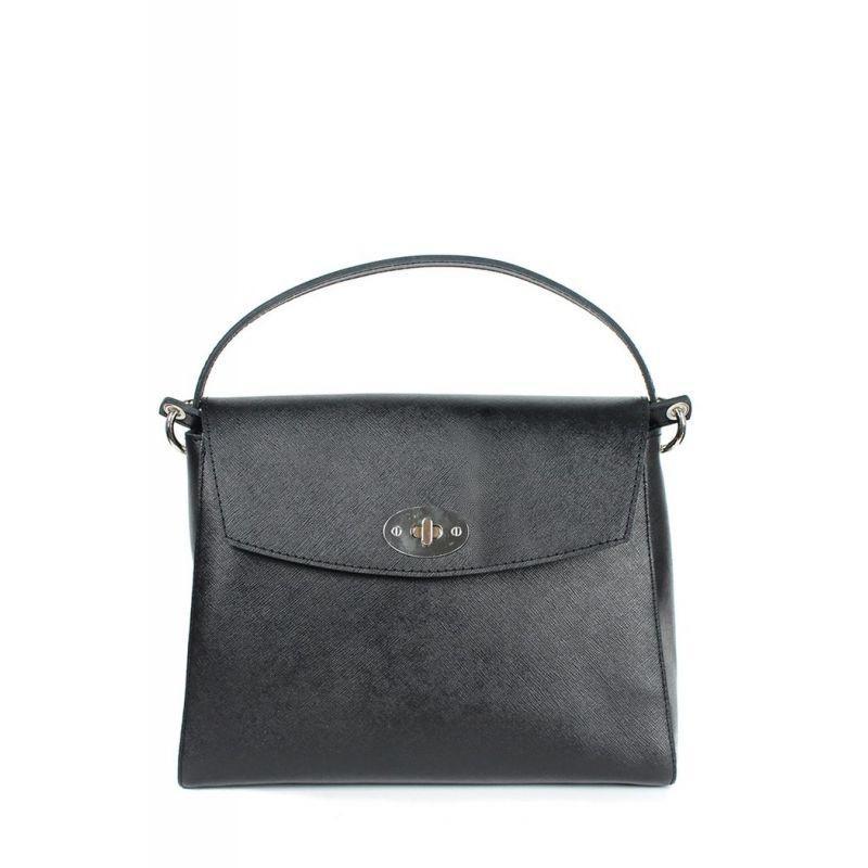 Женская кожаная сумка Iris черная сафьян