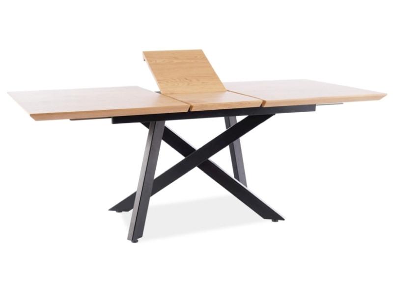 Стол CAPITOL 160(200)х90 дуб/черный (Signal)