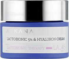 Lactobionic 5% and Hyaluron Cream - Регенерирующий крем с 5% лактобионовой и гиалуроновой кислотой, 50 мл