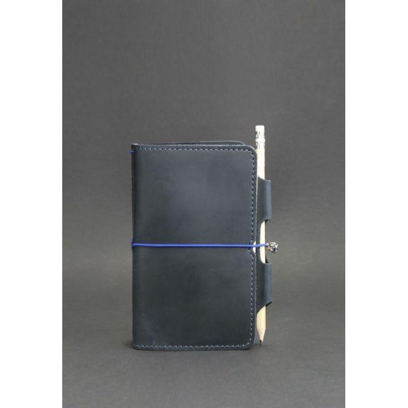 Шкіряний блокнот (Софт-бук) 3.0 синій