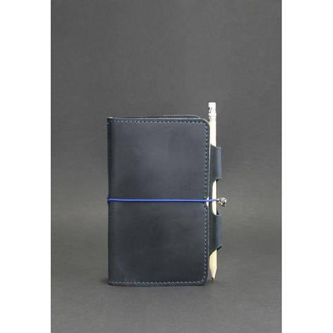 Шкіряний блокнот (Софт-бук) 3.0 синій, фото 2