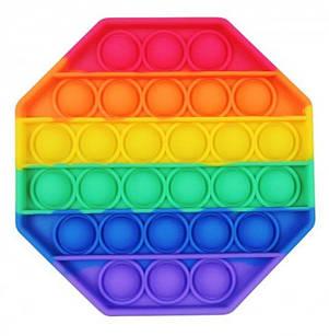 Игрушка pop in антистресс разноцветная в форме восьмиугольника