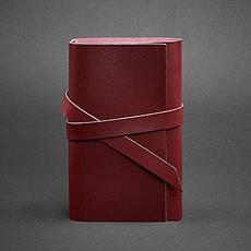 Шкіряний блокнот (Софт-бук) 1.0 бордовий, фото 2