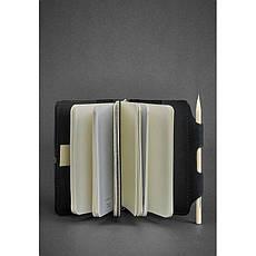 Шкіряний блокнот (Софт-бук) 3.0 чорний, фото 2