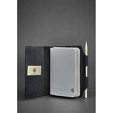 Шкіряний блокнот (Софт-бук) 3.0 чорний, фото 3