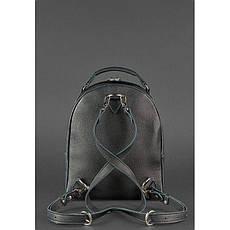 Шкіряний жіночий міні-рюкзак Kylie чорний, фото 2