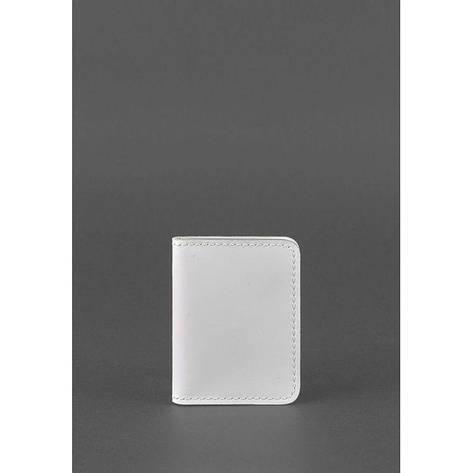 Жіноча шкіряна обкладинка для ID-паспорта і водійських прав 4.0 Біла, фото 2