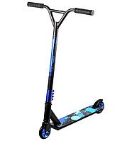 Scooter трюковий двоколісний самокат з Y-образним кермом і різьбовий компресією (синій)