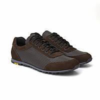 Літні кросівки шкіряні коричневі з перфорацією кеди взуття великих розмірів Rosso Avangard Ada Sport Perf BS