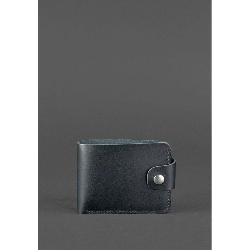 Шкіряне портмоне чорне 4.3