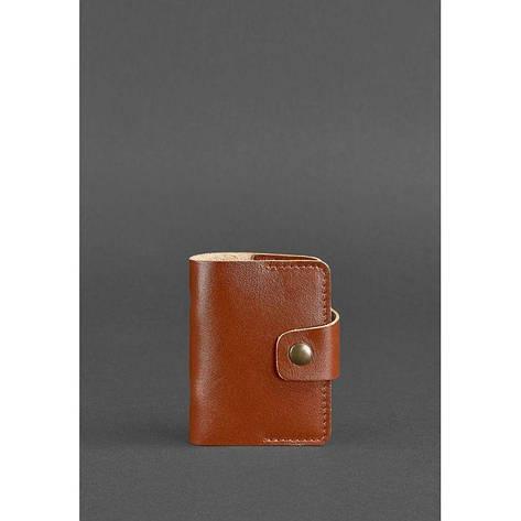 Кожаный кард-кейс 7.1 (Книжечка) светло-коричневый, фото 2