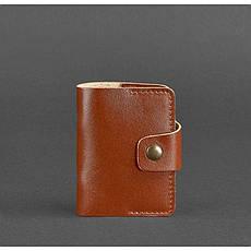 Кожаный кард-кейс 7.1 (Книжечка) светло-коричневый, фото 3