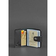 Кожаный кард-кейс 7.1 (Книжечка) черный, фото 2