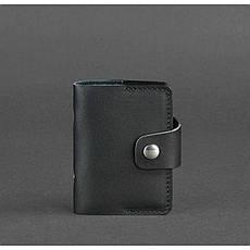 Кожаный кард-кейс 7.1 (Книжечка) черный, фото 3