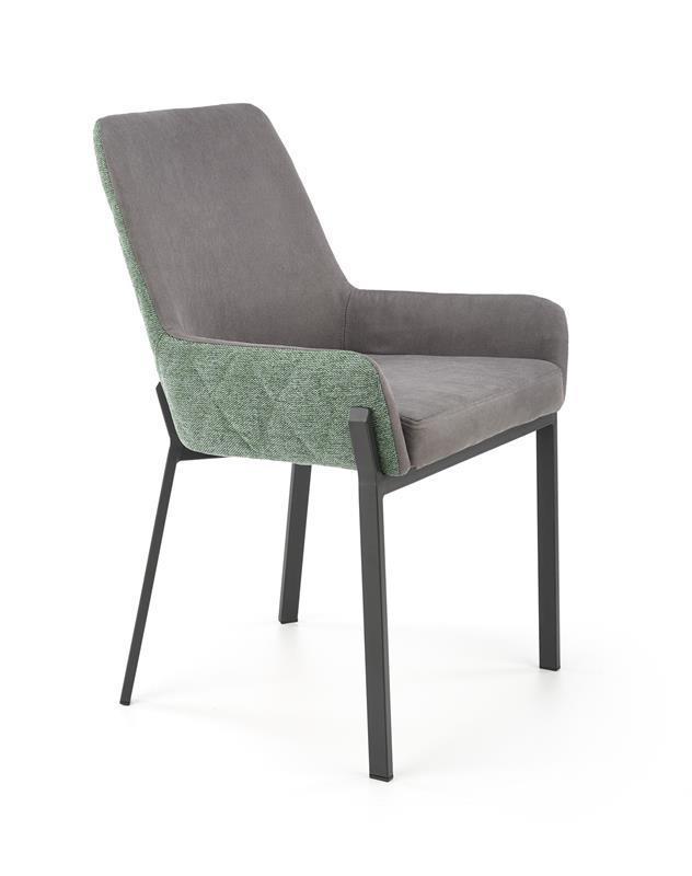 Стул K439 серый/зеленый  ткань  (Halmar)