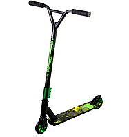 Scooter трюковий двоколісний самокат з Y-образним кермом і різьбовий компресією (зелений)