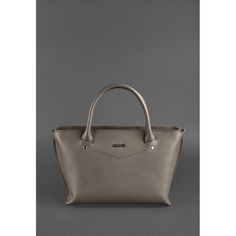 Жіноча шкіряна сумка Midi темно-бежева