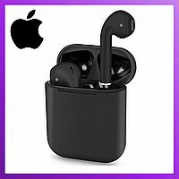 Беспроводные наушники Apple AirPods i120 Black с микрофоном, Bluetooth навушники гарнитура QWER