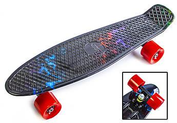 """Penny Board """"Блискавка"""". Матові колеса."""