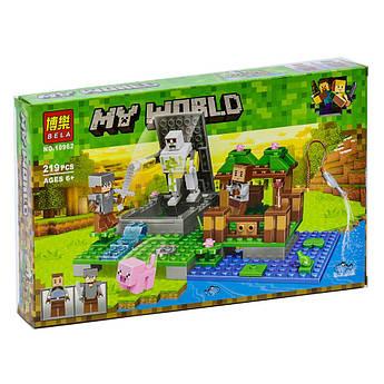 """Конструктор Bela 10962 """"Голем на ферме""""  Lego Майнкрафт, Minecraft, 219 деталей Опт"""