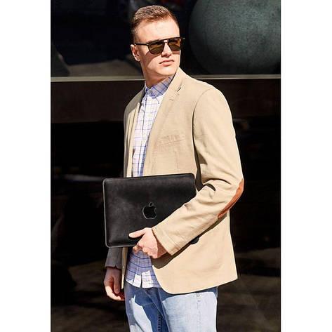 Кожаный чехол для MacBook Air/Pro 13'' Черный, фото 2
