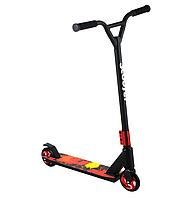 Scooter трюковий двоколісний самокат з Y-образним кермом і різьбовий компресією (червоний)