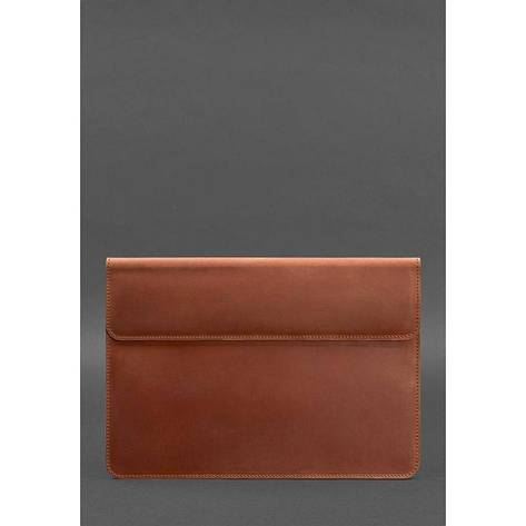 Кожаный чехол-конверт на магнитах для MacBook Air/Pro 13'' Светло-коричневый, фото 2