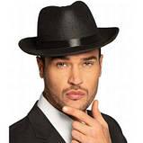 Шляпа Мафия классическая мужская черная (атлас), фото 4