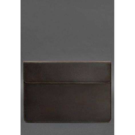 Кожаный чехол-конверт на магнитах для MacBook Pro 15-16'' Темно-коричневый, фото 2