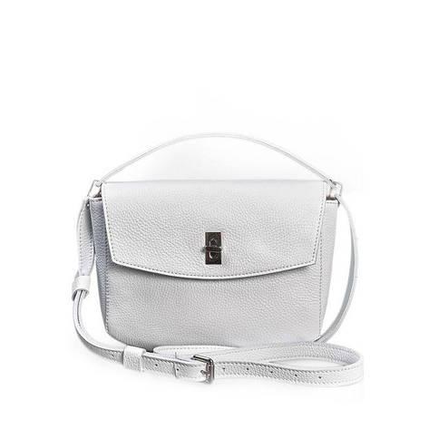 Жіноча шкіряна міні-сумка Eve біла флотар, фото 2