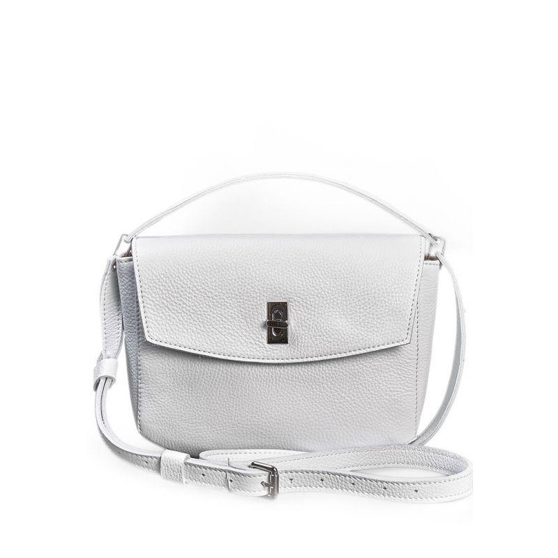 Жіноча шкіряна міні-сумка Eve біла флотар