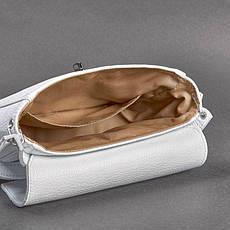 Жіноча шкіряна міні-сумка Eve біла флотар, фото 3