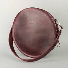 Жіноча шкіряна сумка Amy L бордова вінтажна, фото 3
