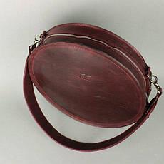 Жіноча шкіряна сумка Amy L бордова вінтажна, фото 2